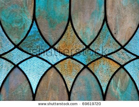 stock photo : Design detail of stained glass window
