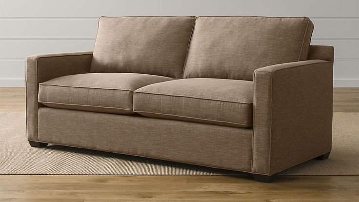 Davis Sofa from Crate and Barrel. Looks great in mink and mushroom, but could work in several of those neutral brown colors.