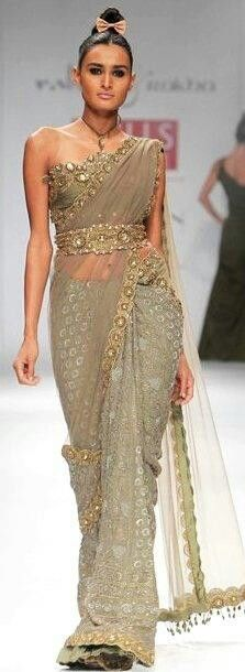 Bridal saree lengha