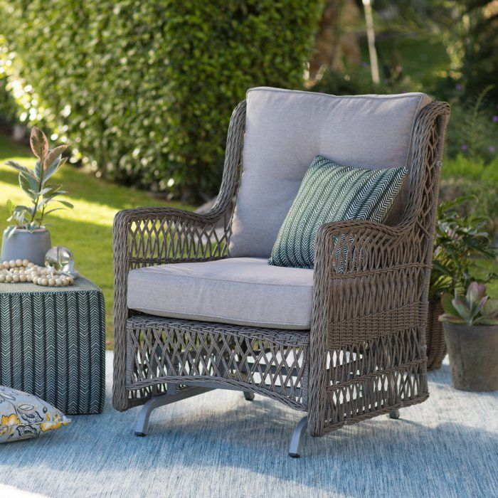 Belham Living Bristol Outdoor Glider Chair with Cushions