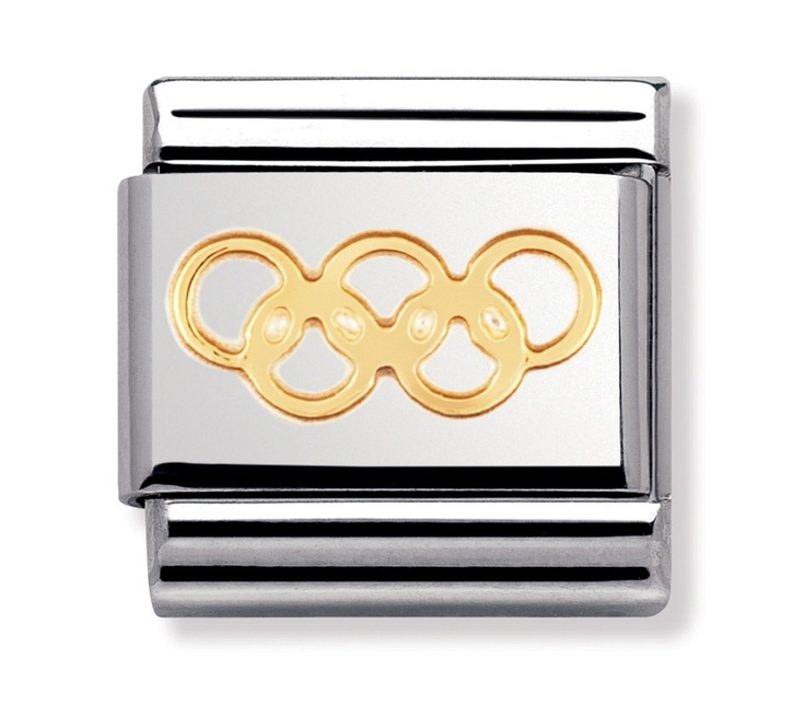 Nomination Stainless Steel and 18ct Gold Olympic Games Charm 030106/22