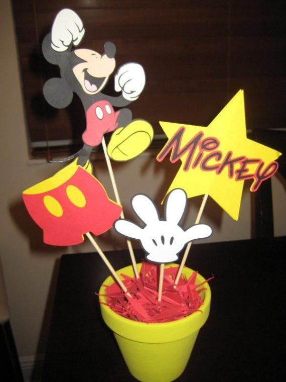 centerpieces mickey mouse | Mickey Mouse Centerpiece by MailynCreations on Etsy