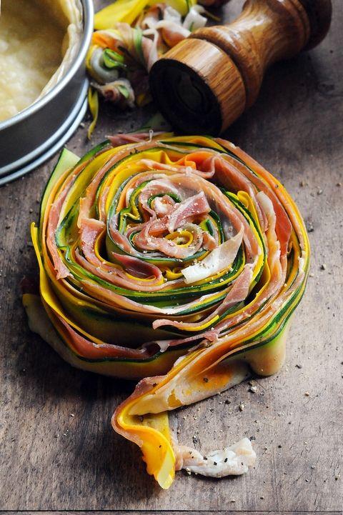 Dorian cuisine.com Mais pourquoi est-ce que je vous raconte ça... : Quand l'envie d'une recette me prend… ben, elle me prend ! Tarte multicolore légumes et jambon d'Aoste !