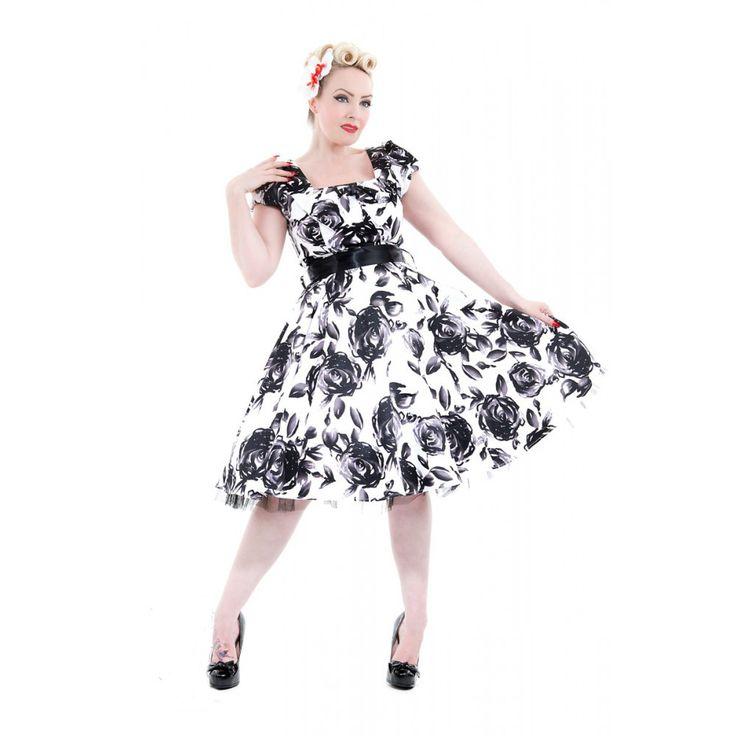 Maxi dress zwart strapless heart