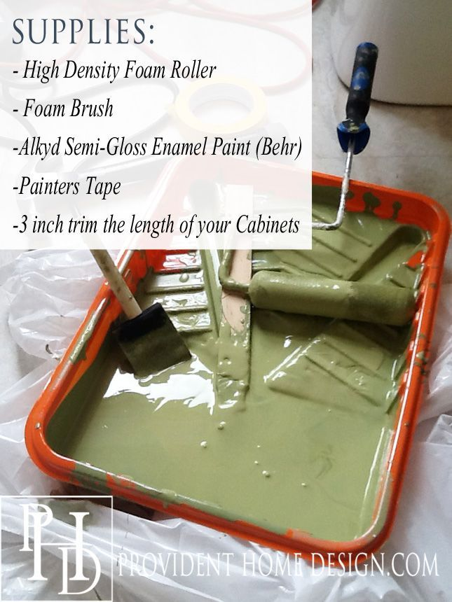How to paint cupboards.  Sounds like Home Depot has an awesome paint for this.