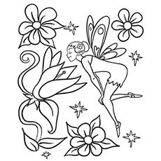 top 25 free printable beautiful fairy coloring pages online - Coloring Pages Fairies Flowers