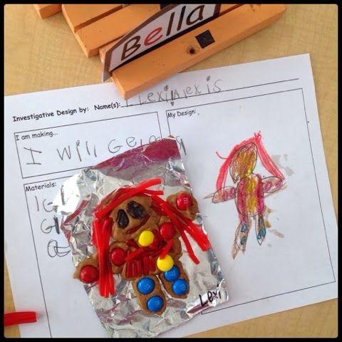 Inquiring Minds: Mrs. Myers' Kindergarten PLAN FIRST AND THEN MAKE GINGERBREAD MEN