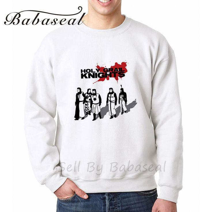 >> Click to Buy << Babaseal Holy Grail Knights Print Letter Men Hoodies Kpop Sweatshirt Coat 2017 Arrival Diamond Hoodie Camouflage Men Sweatshirt #Affiliate