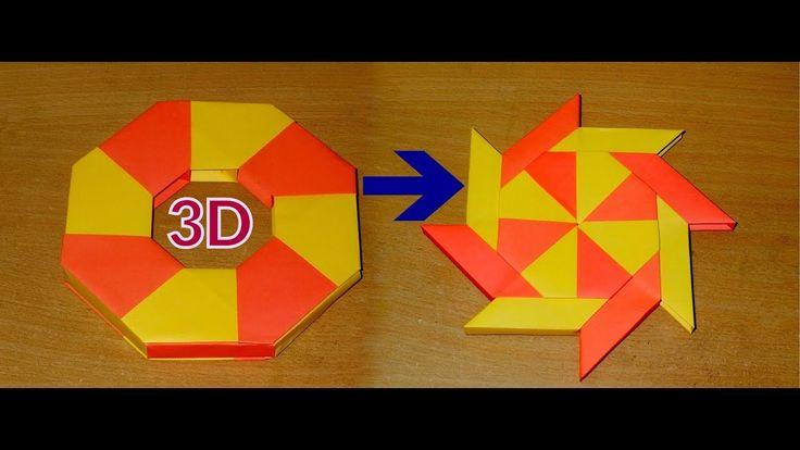 Transforming Ninja Star | 3D Ninja Star | Origami Ninja Star Tutorial | ...