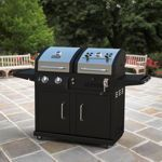 DynaGlo Duel Fuel Gas/ Charcoal BBQ Grill ... Best of both worlds -- gas when in a hutty and charcoal when you have time.