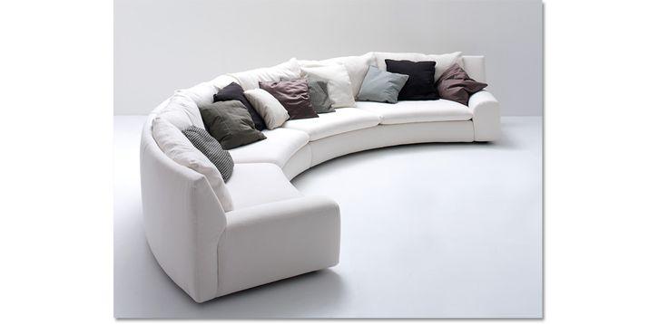 Arflex divano Ben Ben curvo Design Cini Boeri Composizione ...