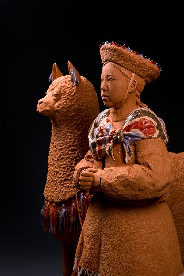 Andes (2014)   47×91×120.3cm, 47.5×42.1×123.5cm Onggi Clay, Terra Sigillata, Terracotta Hand-building