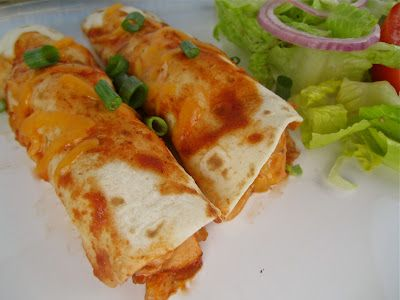 Stephanie Cooks: BBQ Chicken Enchiladas