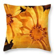 Decorative Painting Flowers Throw Pillow #art #poster #flowers #gifts