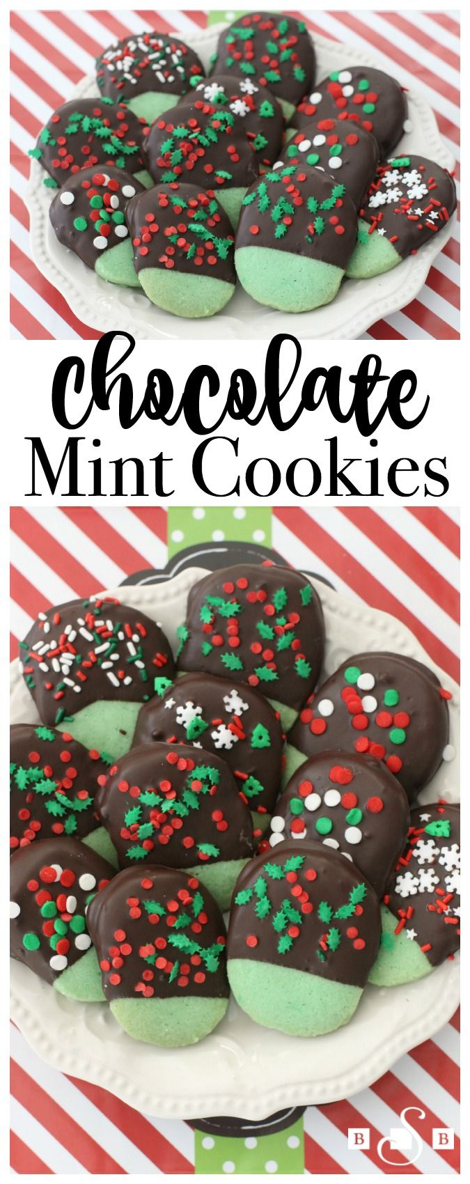 Mint Chocolate Cookies - Butter With A Side of Bread #NationalCookieDay #CelebratingFood2015