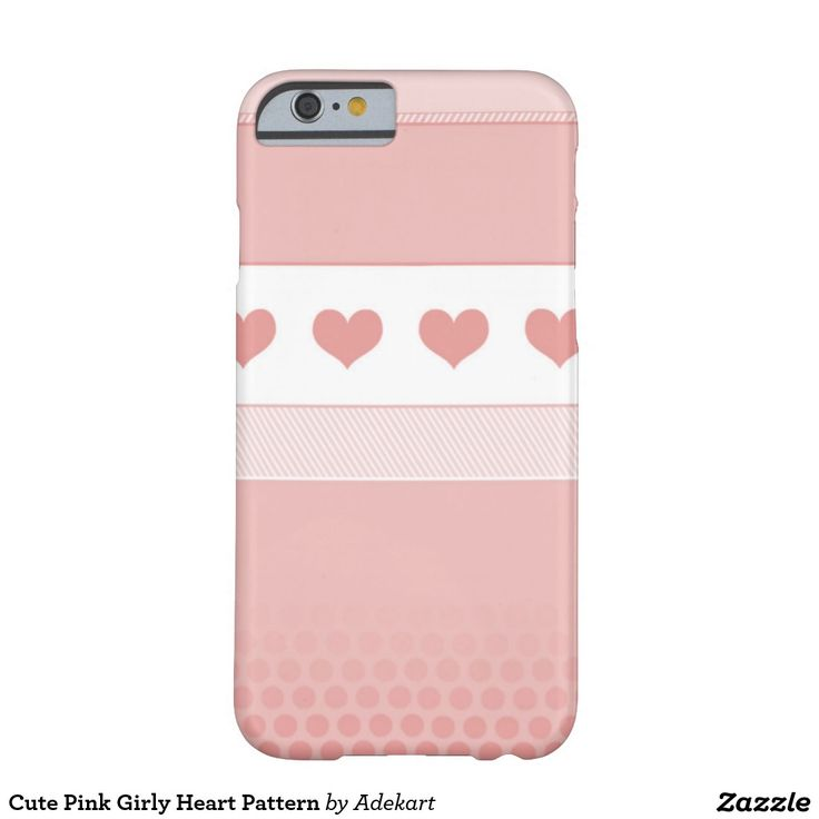 Cute Pink Girly Heart Pattern Barely There iPhone 6 Case