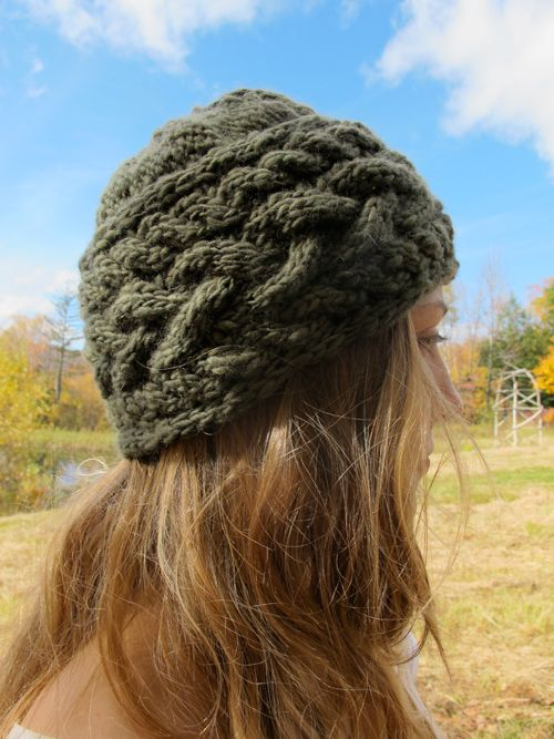 Manos Wool Clasica Sideways Cable Hat Free Pattern Free pattern and Cable