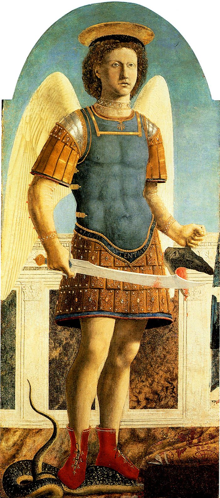 Piero della Francesca | Polyptych of Saint Augustine (1460-1470) | Podere Santa Pia, Holiday house in the south of Tuscany