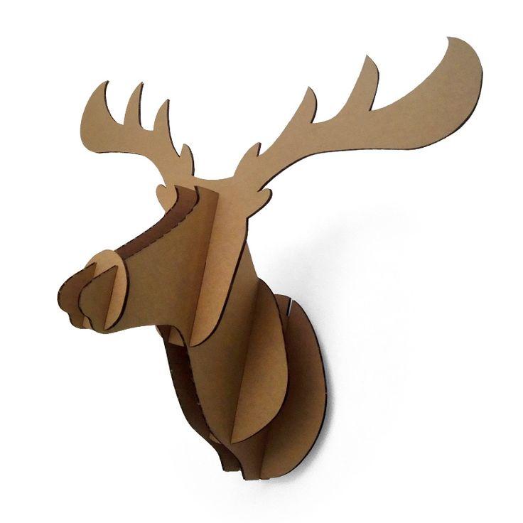 Aliexpress.com : Buy Decorative 3d Puzzle Cardboard Animal Head Wall  Decoration Deer / Wild