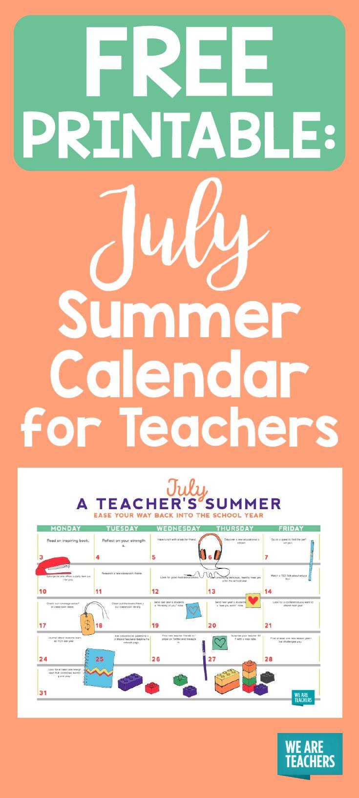 Calendar Printables For Teachers : Best images about what s new on weareteachers pinterest