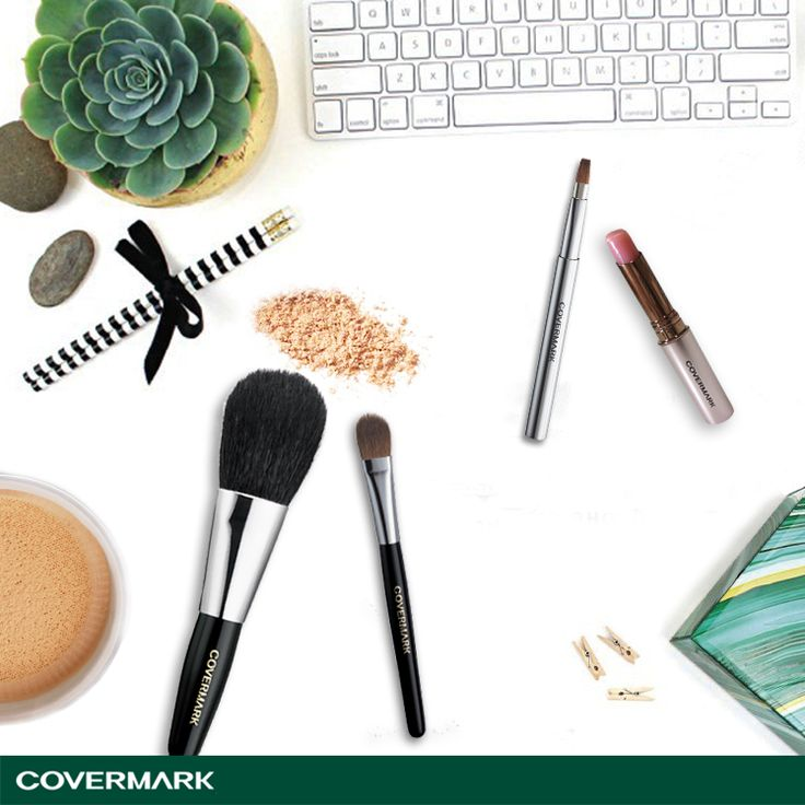 Lengkapi peralatan makeup kamu dengan kuas makeup Covermark yang terbuat dari bulu alami.  #Covermark #BeautyisConfident