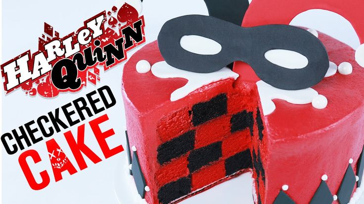 How to Make a Harley Quinn Checkered Cake - 8 Bit Nerds shares the best funny…