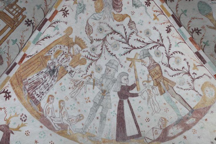 Kalkmalerier, Elmelunde Kirke #Denmark