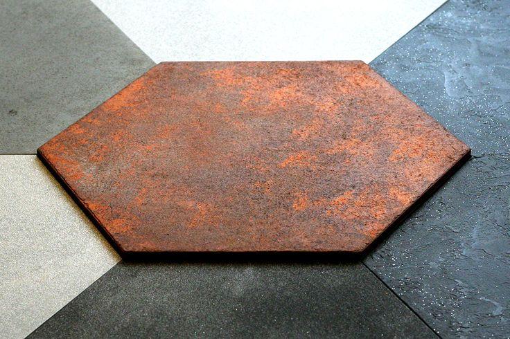 Panel ścienny tynkowany Paneletto - Hexa Rust 01