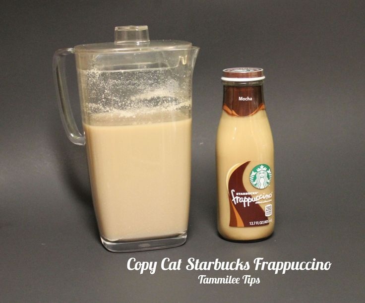 making right now!!! Copy Cat Starbucks Frappuccino. Ingredients: 10 cups cold coffee, 1/2 cup sugar, 1/2 cup brown sugar, 1/2 cup vanilla creamer. Directions: Pour everything into a pitcher and mix together