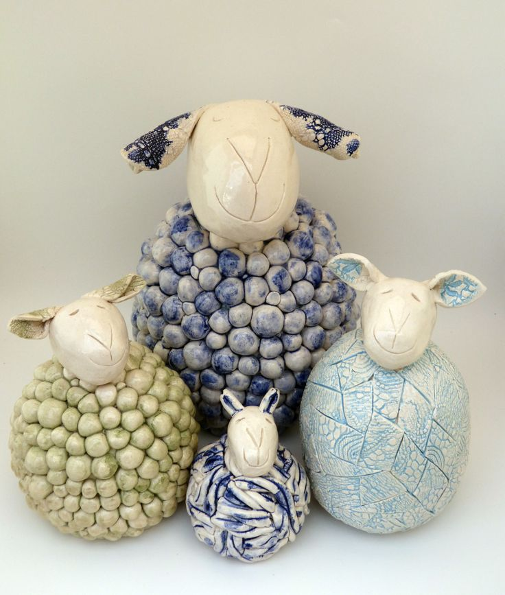   Handmade ceramic sheep, chickens, brooches and other creations...