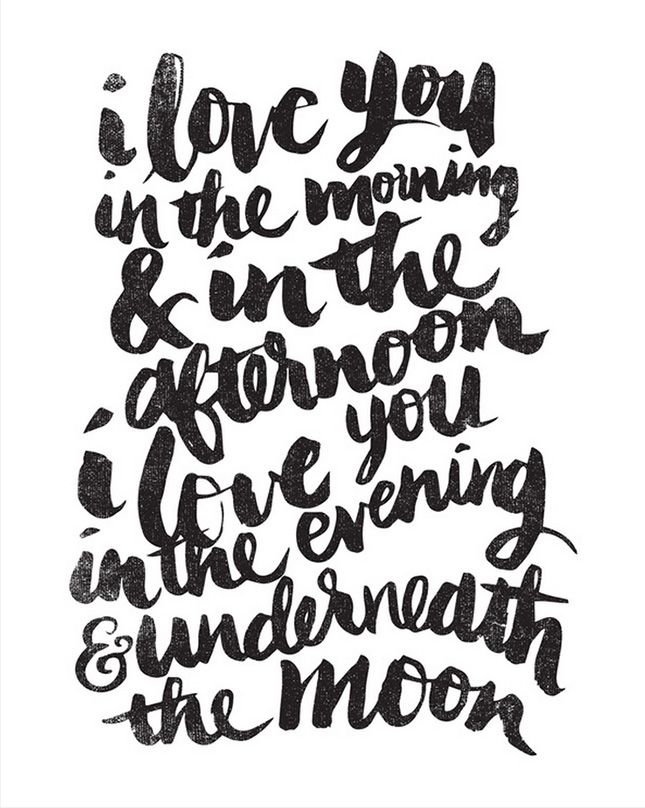 Lovely quote + beautiful typography = winning wall art.