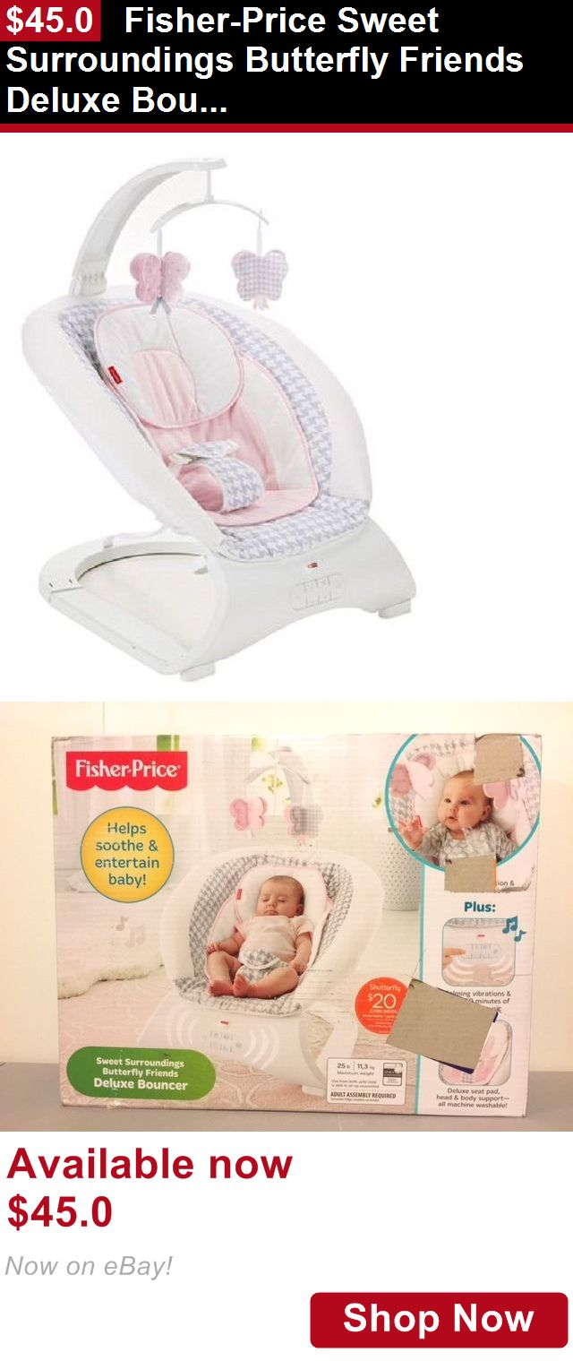 Baby bouncers and vibrating chairs: Fisher-Price Sweet Surroundings Butterfly Friends Deluxe Bouncer Vibrating Seat BUY IT NOW ONLY: $45.0