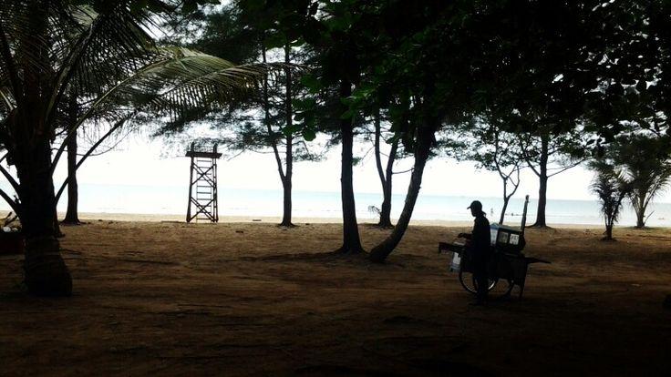 Manggar beach' silhouette