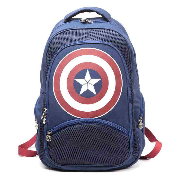 Marvel Captain America - Civil War rugtas met logo blauw - Comics film
