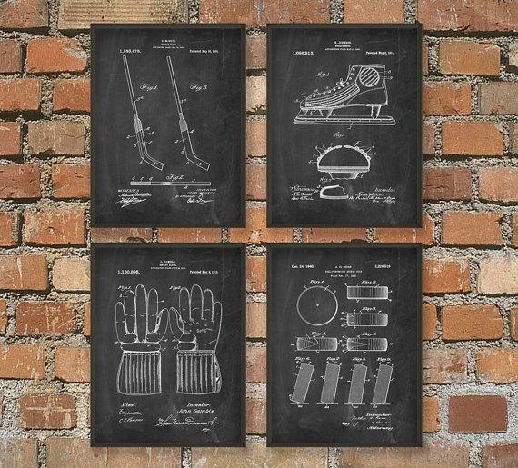 Hockey brevet Art affiche la valeur Ces affiches de brevets sont imprimés avec des encres darchivage de haute qualité sur papier darchivage