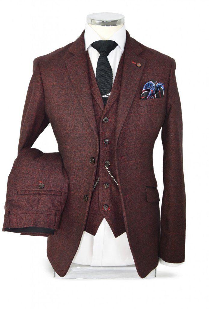 Berlin Wine Tweed Suit
