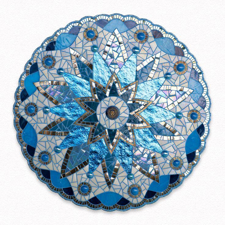mandala mosaic throat chakra