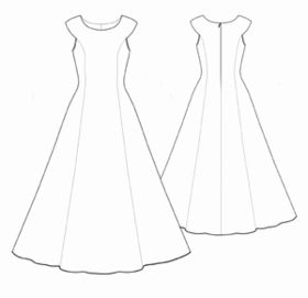 Wow a free wedding dress pattern. I love that it is simple and you can DIY it to your taste.
