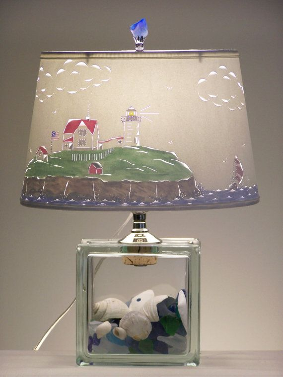 Most awesome lamp ever? Nubble Lighthouse Lamp by BarbaraGailsLamps on Etsy