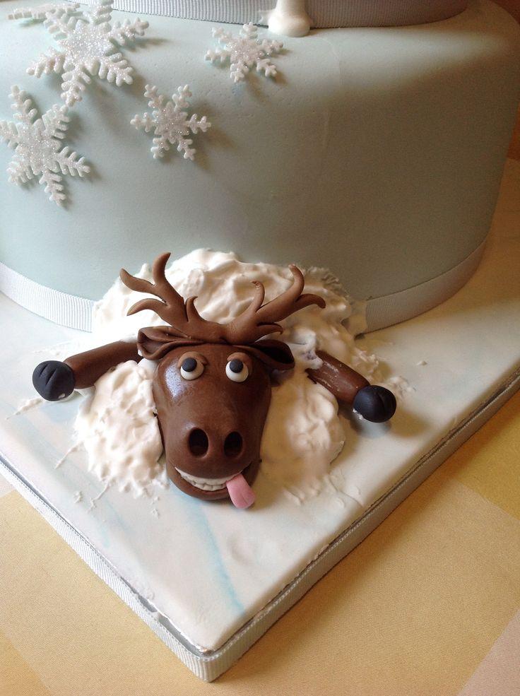 Un piccolo #cervo sulla mia torta di #frozen #disney