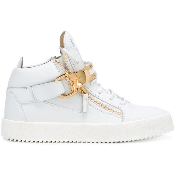 Giuseppe Zanotti Design Owen hi-top sneakers (18,280 MXN) ❤ liked on Polyvore featuring men's fashion, men's shoes, men's sneakers, white, mens white high top sneakers, giuseppe zanotti mens shoes, mens white sneakers, mens high top shoes and mens white high top shoes