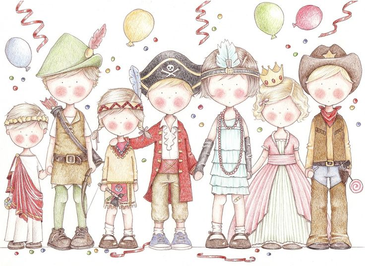 """Carte d'invitation """"Fête d'anniversaire"""" ou """"Goûter déguisé"""" : Faire-part par les-loulous-de-guibo"""