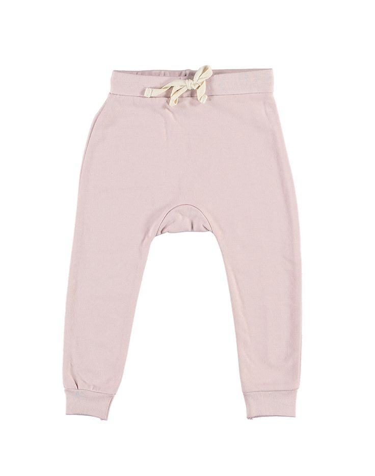 Gray label organic baggy pants in vintage pink gray