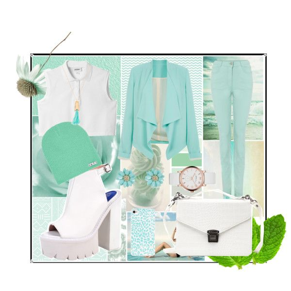 """White and Mint"" by niallpizzalina on Polyvore"