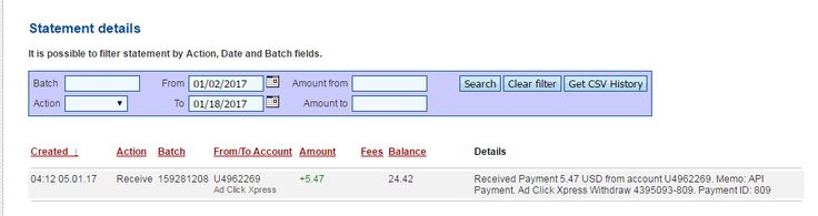 AdClickXpress (Ad Click Xpress) is the best ONLINE OPPORTUNITY for you.I WORK FROM HOME less than 10 minutes and I manage to cover my LOW SALARY INCOME. Here is my Withdrawal Proof No. 6, from AdClickXpress. I get paid daily and I can withdraw daily. Online income is possible with ACX, who is definitely paying.