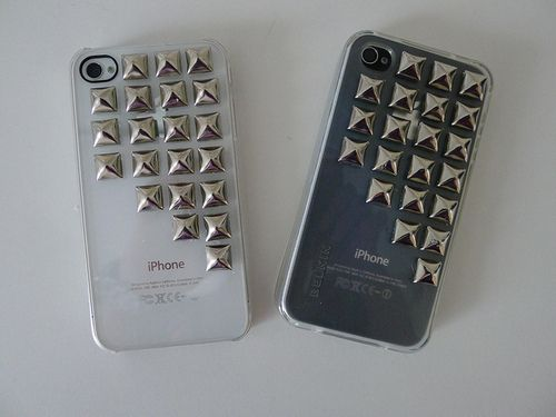 Studded. I want to do this!: Studs, Iphone Cases, Iphone 4S, Style, Phones Covers, Phones Cases, Iphone Covers, Iphone 4 Cases, Diy