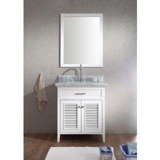 Images On Shop for ARIEL Kensington inch Single Sink White Vanity Set Get free delivery