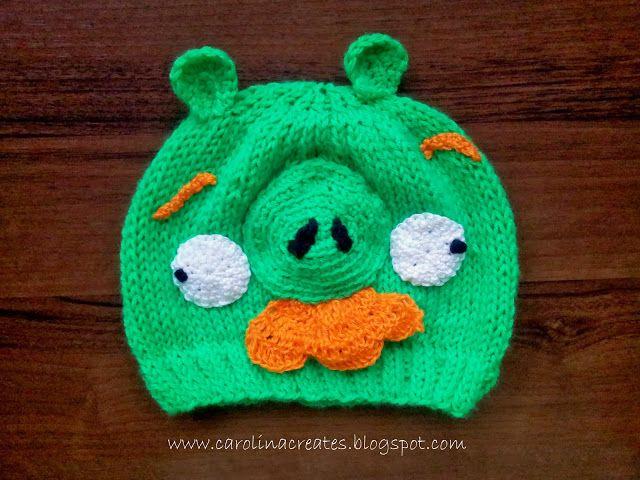 Carolina Creates - Bad Piggies beanie for a boy ( head circumference 52/54 cm) - yarn Himalaya Everyday anti-pilling