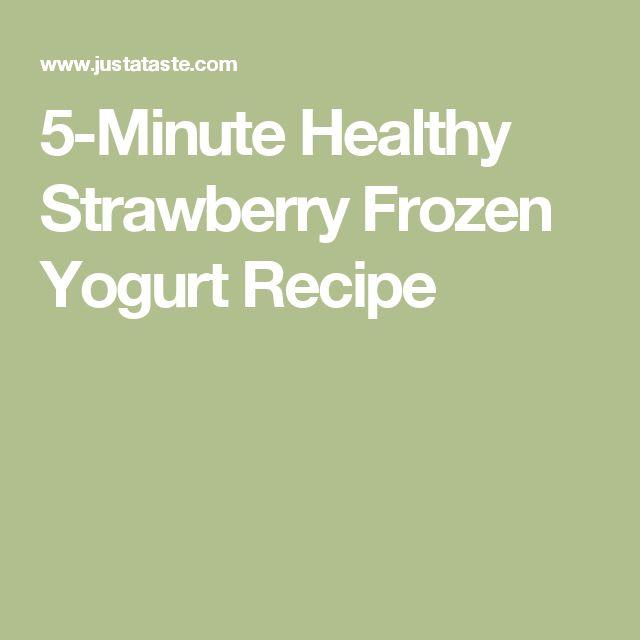 5-Minute Healthy Strawberry Frozen Yogurt Recipe
