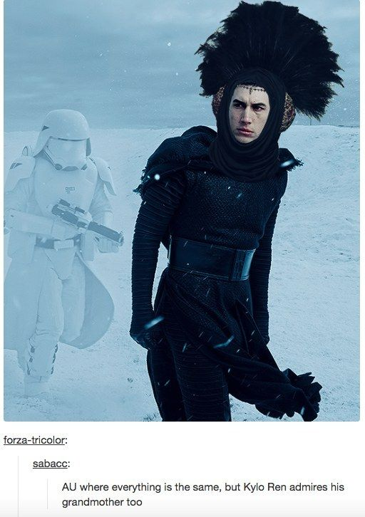 And this beautiful imagining of if young Benjamin had some respect for Padmé Amidala. | 21 Tumblr Posts That Perfectly Capture Kylo Ren